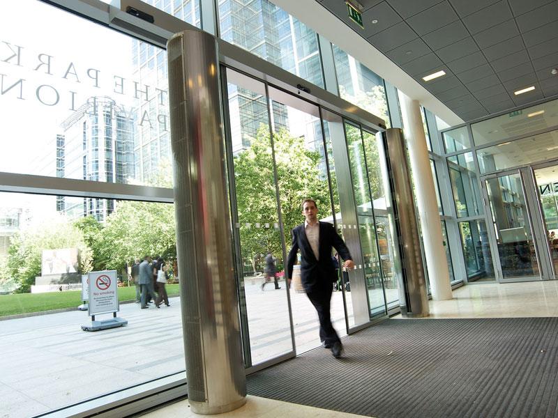 Designer Air Curtains At Canary Wharf