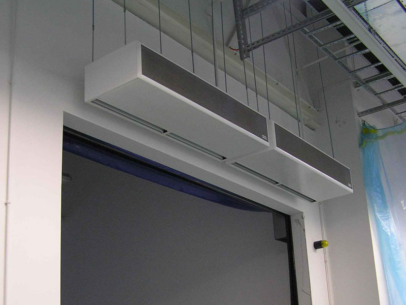 Windbox industrial air curtain projects