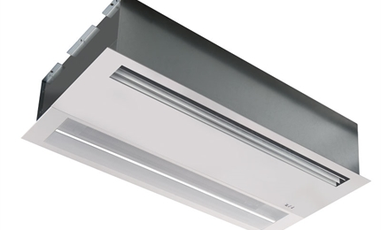 Finesse recessed air curtain