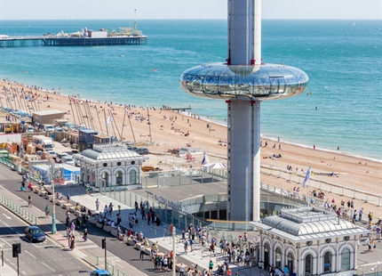 JS Air Curtains on board at British Airways i360