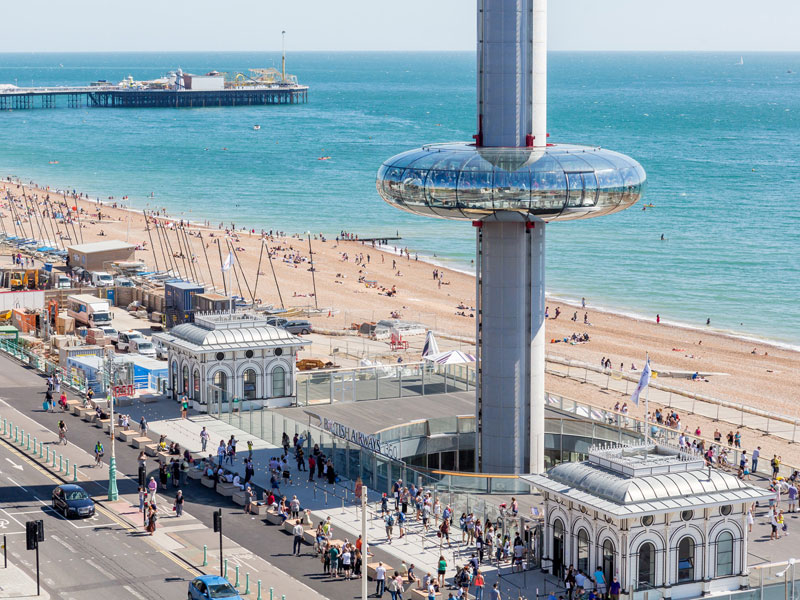 British Airways i360 situated on Brighton seafront