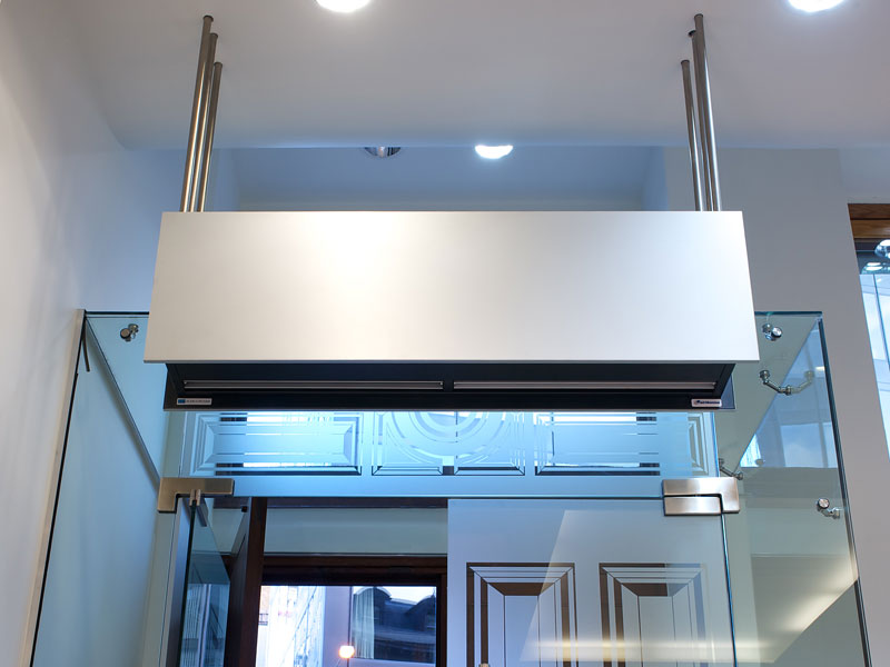 Reception air curtain