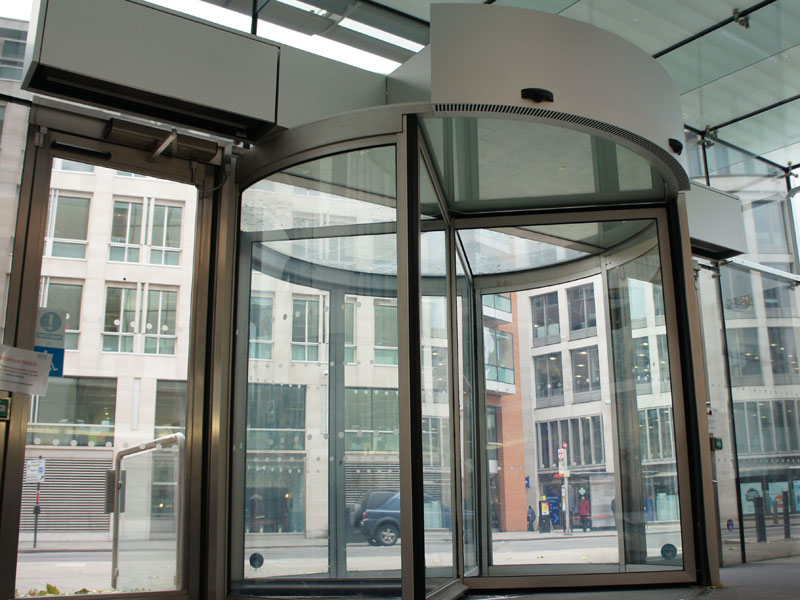 Zen air curtains at BT's Headquarters, Newgate Street, London