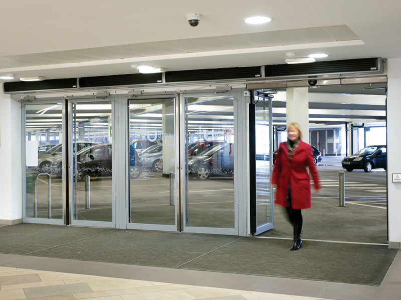 Car park air curtains