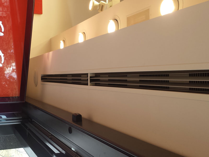 Invisair Concealed air curtain at Alain Affelou store, Barcelona