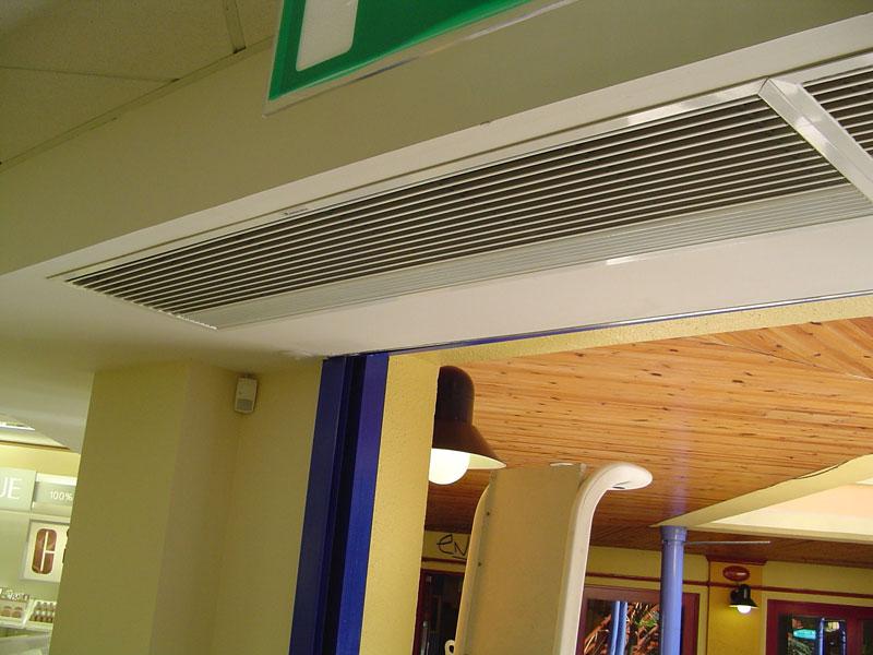 Recessed Optima Air Curtain