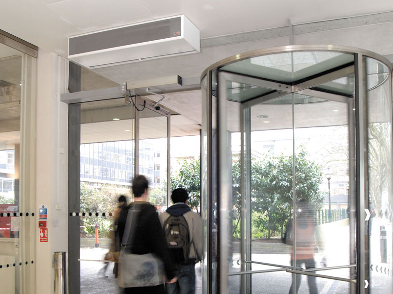 Windbox air curtain at Imperial College, London
