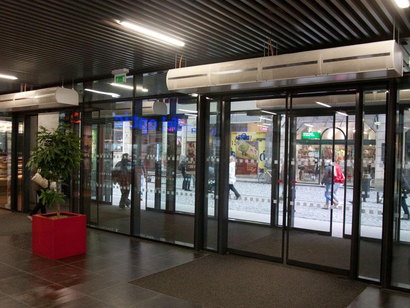 Zen air curtains at BT's Headquarters, Newgate Street, London